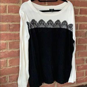 Talbots lace sweater